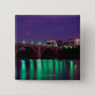 Key Bridge crossing the Potomac River 15 Cm Square Badge