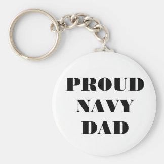 Key Chain Proud Navy Dad