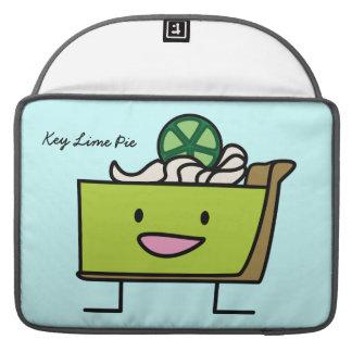 Key Lime Pie American dessert slice graham crust Sleeve For MacBook Pro