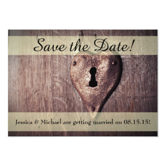 Key to My Heart Save the Date Card w/ Envelopes