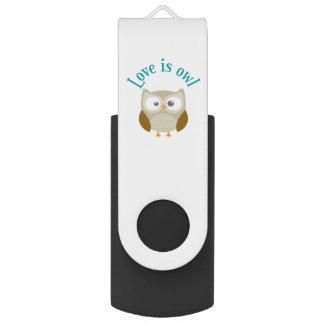 """Key usb """"Coils is owl """" Swivel USB 2.0 Flash Drive"""