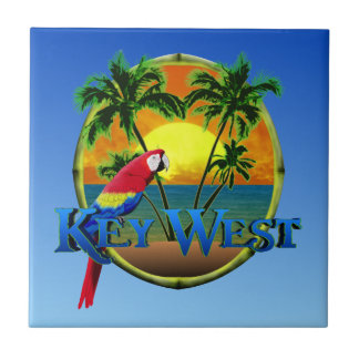 Key West Sunset Small Square Tile