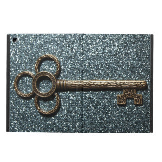 Key with Glittery Blue iPad Air Case
