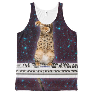 keyboard cat - funny cats  - cat lovers All-Over print tank top