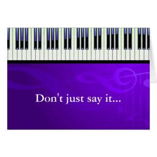 Keyboard Couture Piano Keys Card