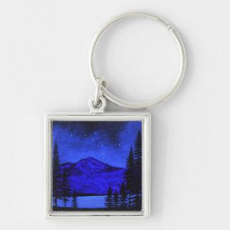 Keychain ~ Mount Shasta In Starlight