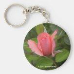 Keychain: Precious Pink Rosebud