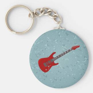 Keychain with electric guitar  illustration