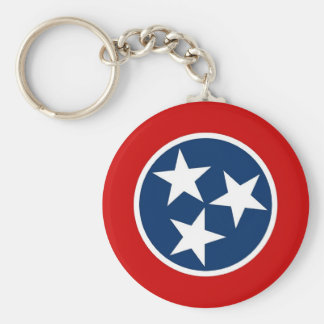 Keychain with Flag of Tennessee State