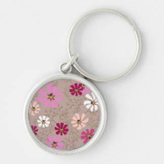 Keychain  with tender floral background.