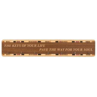 Keys of life way inspiration soul key holder wood walnut key rack