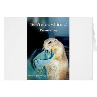Keystone Prairie Dog diet meme Greeting Card