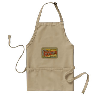 Khaki Apron with Vintage Root Beer Design