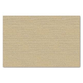 Khaki Coffee Brown Faux Burlap Texture Pattern Tissue Paper