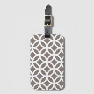 Khaki Geometric Pattern Baggage Labels Luggage Tag