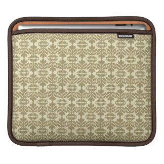 Khaki Lotus Tablet Pouch iPad Sleeve