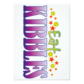 Kibbles Eat 14 Cm X 19 Cm Invitation Card