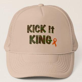 Kick it King Trucker Hat - Camo Brown