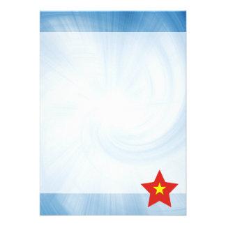 Kid Friendly Vietnam Flag Star 13 Cm X 18 Cm Invitation Card