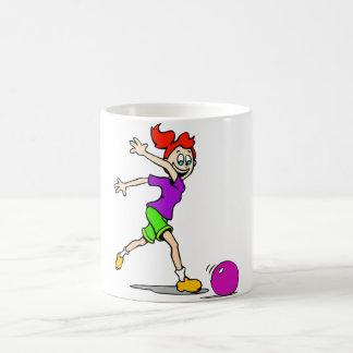 Kid Girl Bowling Basic White Mug