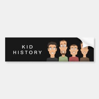 Kid History Bumper Sticker
