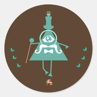 Kid Illuminati - the fake illuminati symbolism Classic Round Sticker