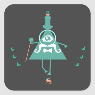Kid Illuminati - the fake illuminati symbolism Square Sticker