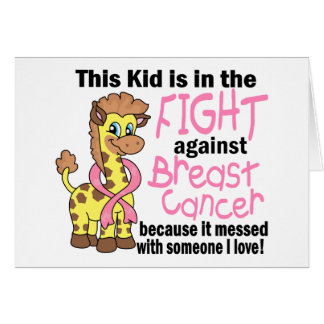 Kid In The Fight Against Breast Cancer Greeting Cards