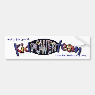 Kid Power Team Bumper Sticker