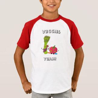 Kid's Striped Sleeve V-Neck T-Shirt