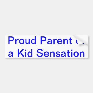 Kid Sensation Bumper Sticker