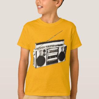 Kid yellow shirt Ghetto Blaster Boom box