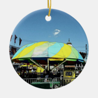 Kiddie Car and Truck Amusement Park Ride Christmas Ornament