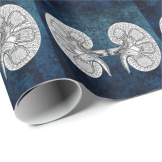 KIDNEY 2 DRAWING WRAPPING PAPER