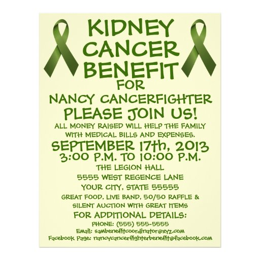 Kidney Cancer Benefit Cartoon Flyer