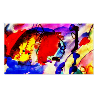 Kids Abstract Art Rainbow Fish in Colorful Sea Business Cards