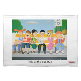 Kids at the Bus Stop - Place Mat