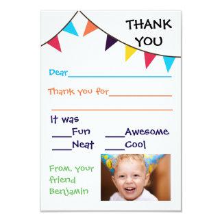 Kid's Bunting Custom - 3x5 Thank You Cards