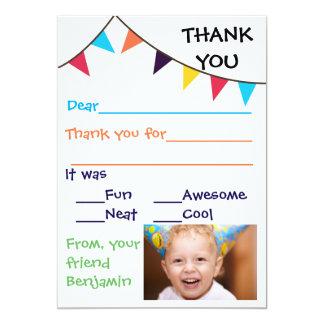 Kid's Bunting Custom Thank You Cards 13 Cm X 18 Cm Invitation Card