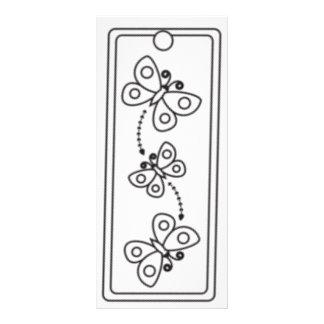 Kids Butterflies Bookmarks 10 Cm X 23 Cm Rack Card