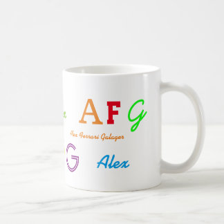 kid's colorful initials/name letters coffee mug
