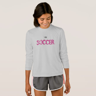 "Kids' Competitor ""I AM SOCCER"" Long Sleeve Shirt"