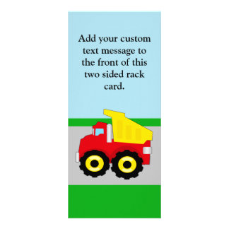 Kids Construction Dumptruck Rack Cards