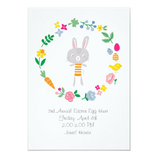 Kids custom Easter egg hunt invitation