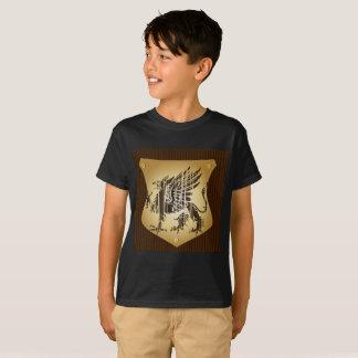 Kids' dragon T-Shirt boy Short sleeves Black