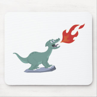 Kids Fire-Breathing Dinosaur Art by Jeff Nevins Mouse Pad