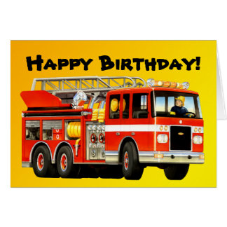 Kid's Fire Truck Greeting Cards