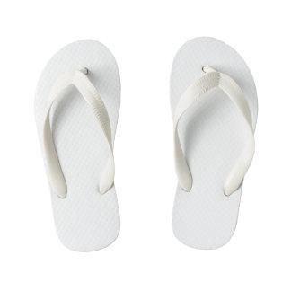 Kids Flop Flops, White Thongs