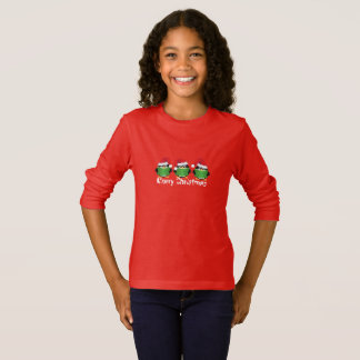 Kid's Girls Holiday Penguin Carolers Top