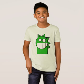 Kids Green Cartoon Funny Dragon Shirt
